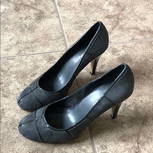 Franco Sarto Grey Heels